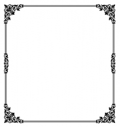 scroll border vector image vector image