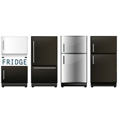 Set of refrigerators in different designs vector