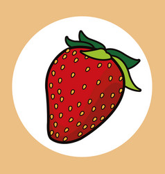 Strawberry healthy fresh image vector