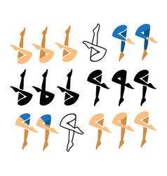 Synchronized swimming icon and symbol vector