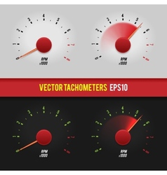 tachometers glossy style modern vector image