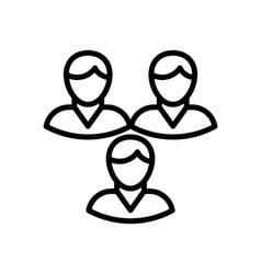 Teamwork outline icon vector
