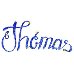 Thomas name lettering tinsels vector