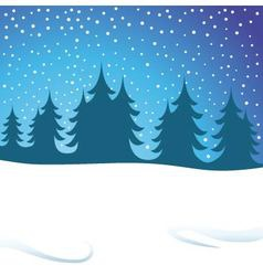 winters night vector image