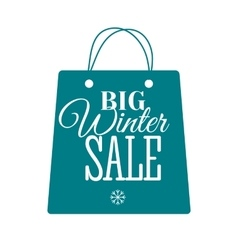 Winter sale label badge logotype of winter sale vector