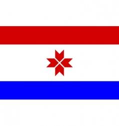 mordovia flag vector image