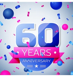 Sixty years anniversary celebration on grey vector image