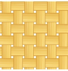 Woven straw vector