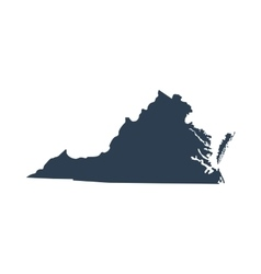 map of the US state Virginia vector image