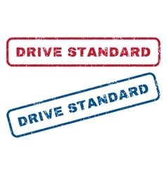 Drive standard rubber stamps vector