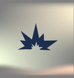 Explosion icon vector