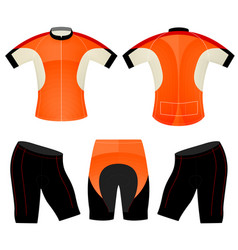 T-shirt sports cycling vest vector