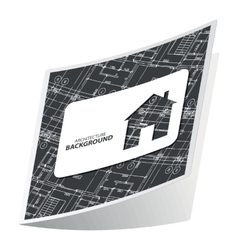 Black architecture sticker 2 vector