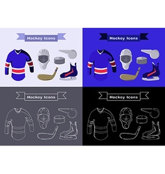 Hockey sportswear objects vector