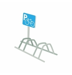 Bicycle parking icon cartoon style vector