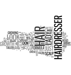 A bad hairdresser day text word cloud concept vector