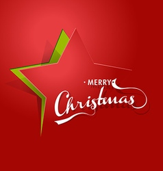 Abstract background with christmas star and merry vector