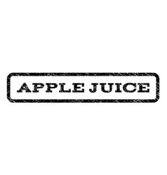 Apple juice watermark stamp vector