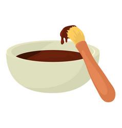 Barbecue brush icon cartoon style vector