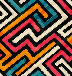 bright labyrinth seamless pattern vector image
