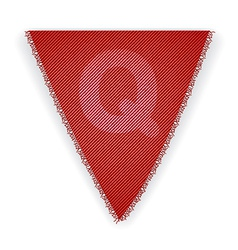 Bunting flag letter q vector