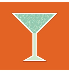 cocktail icon vector image