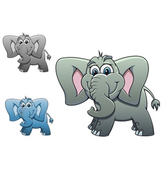 cute elephant baby isolated on white background fo vector image vector image