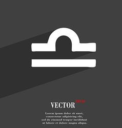 Decorative Zodiac Libra symbol Flat modern web vector image
