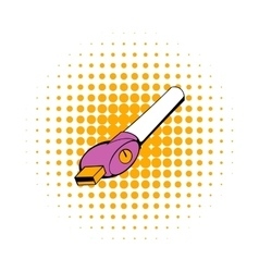 Electronic cigarette charger icon comics style vector