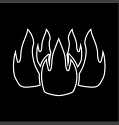 fire it is icon vector image vector image