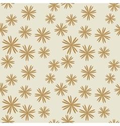 Flower pastel brown seamless pattern vector image