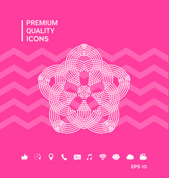 Geometric oriental arabic pattern for your design vector