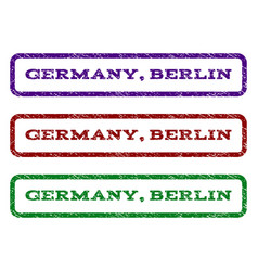 Germany berlin watermark stamp vector