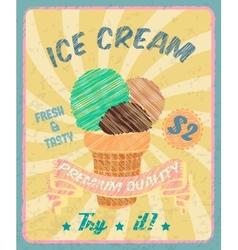 Ice-cream poster vector