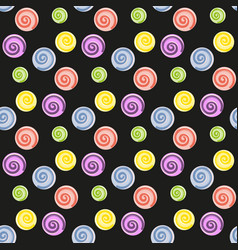 Lollipop candy seamless pattern vector