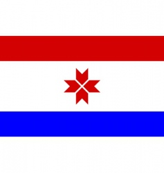 mordovia flag vector image vector image