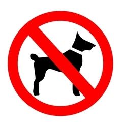 No dogs sign isolated on white background vector