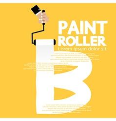 Paint roller alphabet b vector