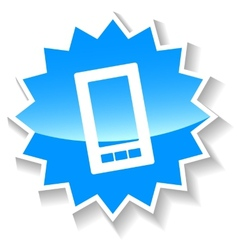 Phone blue icon vector