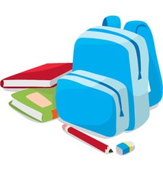 School backpack and book vector