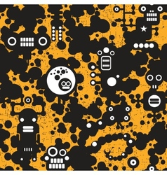 Seamless pattern with monsters vector image vector image