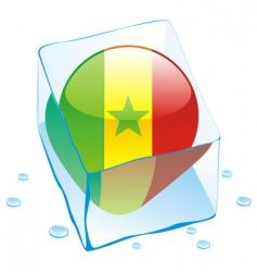 Senegal flag vector image vector image