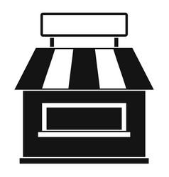 Shop building facade icon simple style vector