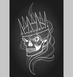 skull in the crown vector image
