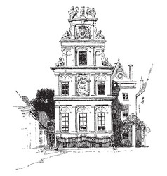 Town hall vintage vector