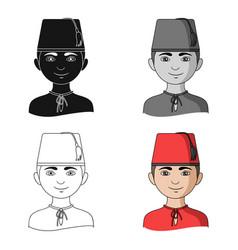 turkhuman race single icon in cartoon style vector image