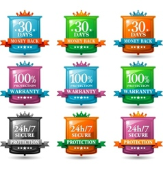 web satisfaction guarantee badges vector image