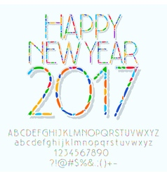 Mosaic happy new year 2017 greeting card vector