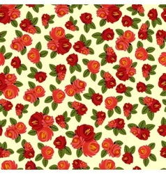 Beautiful seamless pattern with red roses on light vector