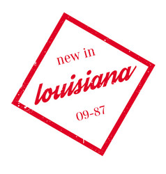 New in louisiana rubber stamp vector